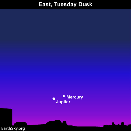 mar15 Sky Tonight—March 15, Jupiter is your guide to Mercury in mid March 2011
