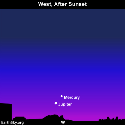 mar16 Sky Tonight—March 16, Smallest and largest planets in conjunction