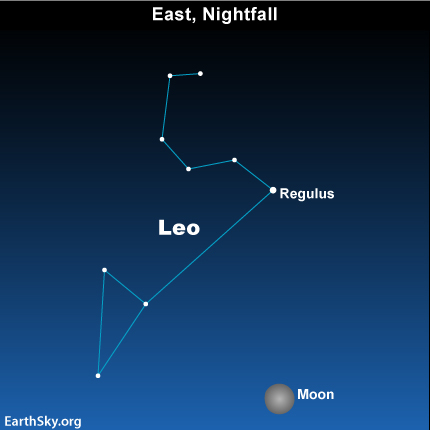 mar181 Sky Tonight—March 18, Watch for full moon, planet Saturn, high tides this weekend
