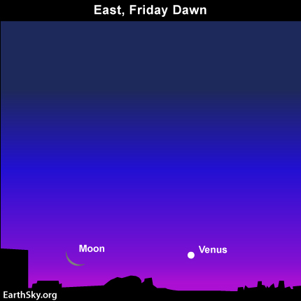 mar31 Sky Tonight—March 31, Moon and Venus side by side before sunrise April 1