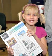 smilling erin Winners announced in Berthoud Schools Fund Writing Contest