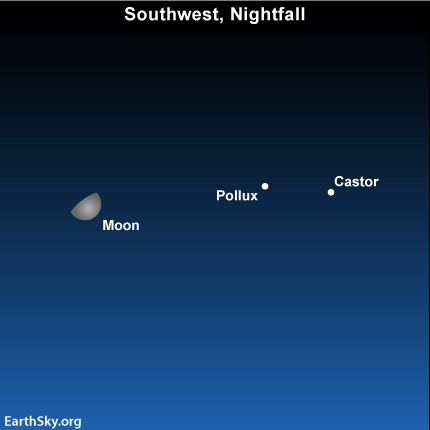 Apr11 Sky Tonight—April 11, Moon passes by Gemini stars