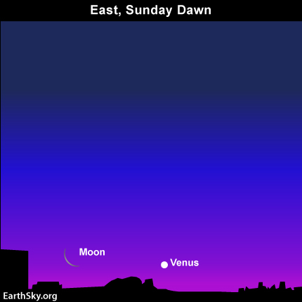 Apr30 April 30, Watch for Venus and moon east before sunrise May 1