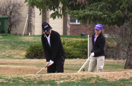 Brandi chip shot Berthoud High Golf Team Competes at Loveland's Olde Course
