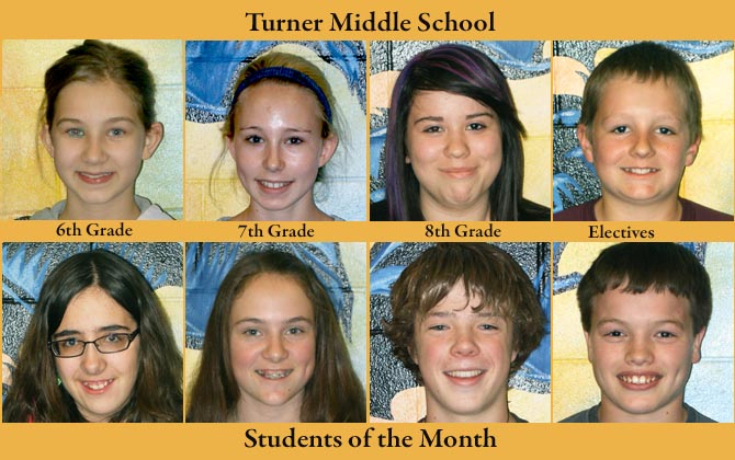 Turner SOM April  Turner Middle School, Students of the Month of April
