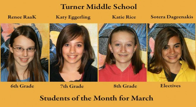 Turner SOM March 1 670x368 Turner MS Students of the Month March