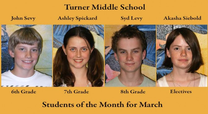 Turner SOM March 2 670x368 Turner MS Students of the Month March