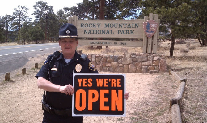 Yes Were Open Sheriff promises to keep park open