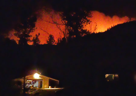 fire behind house Crystal Fire: A residents story