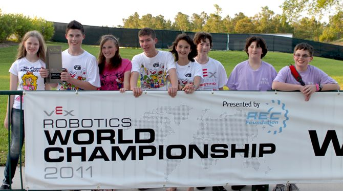 teams outdoors Local High School Team wins robotics trophy