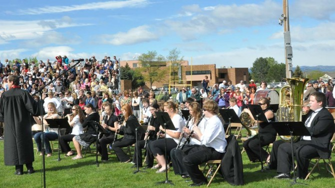 3390 BHS Band 670x377 Photos from Berthoud High School Graduation