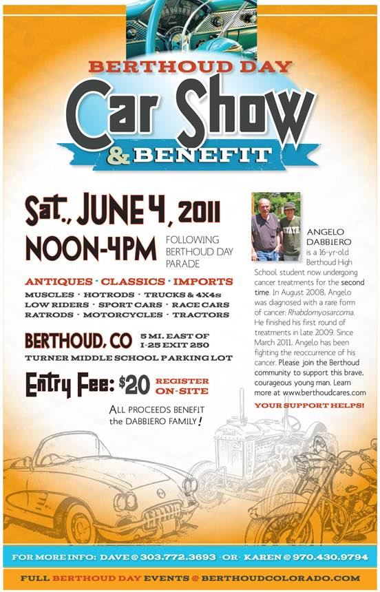 Car Show1 Berthoud Day Car Show and Benefit for Angelo