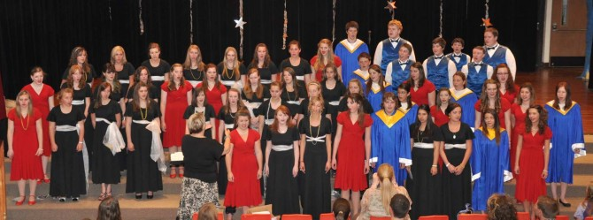 Combined Choir 670x249 Evening with Arts at Berthoud High School