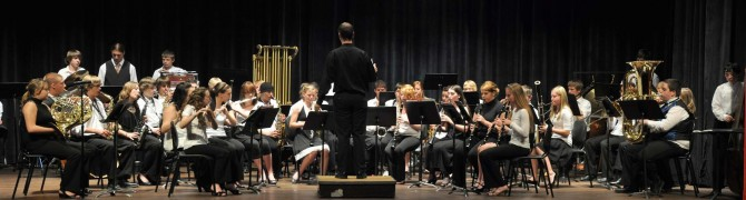 Concert Band Panorama small 670x180 Evening with Arts at Berthoud High School