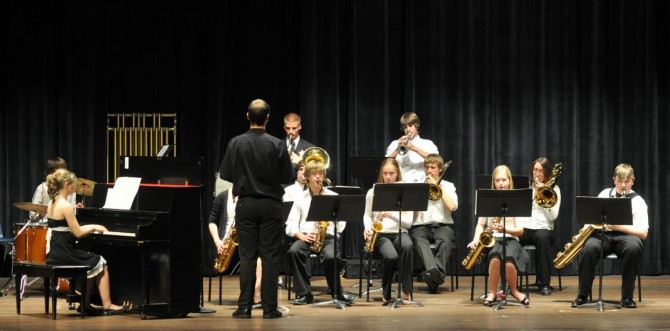 Jazz band 12001 670x331 Evening with Arts at Berthoud High School