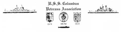 USS Columbus reunion logo USS Columbus veterans