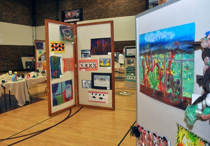 display Evening with Arts at Berthoud High School