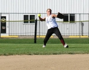 throw 300x234 Spartan Softball Drops Season Opener