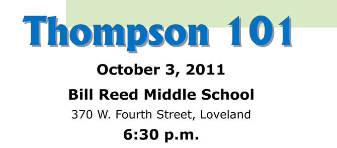 Thompson 101 flyer School District Information Night