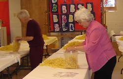 Bagging noodles Berthoud United Methodist Craft and Food Fair