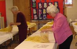 Bagging noodles Berthoud United Methodist Craft and Food Fair
