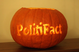 PolitiFact pumpkin web Halloween special: scary fact checks