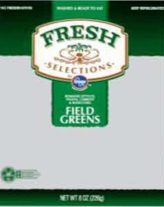 field greens Bagged salad greens recall