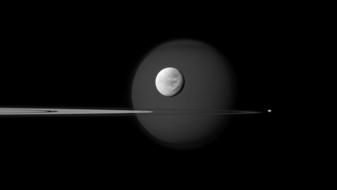 fourmoons cassini 1004 670x378 Astronomy Picture of the Day