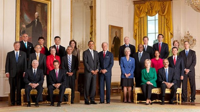 708 Presidents Cabinet 670x376 Commenter wrong on Obama cabinet