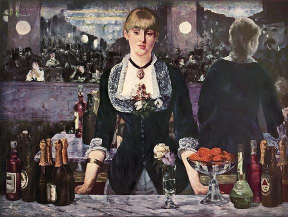 Bar at follies Manet On This Day, November 30, 1886