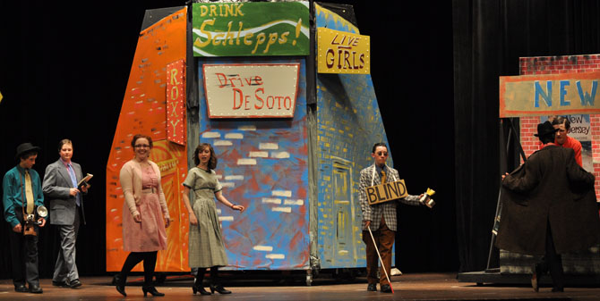 Opening scene1 Guys and Dolls at BHS