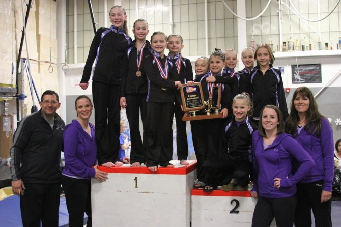 Premier Gymnastics Level 5 State 670x446 Premier Gymnastics scores well in state meet
