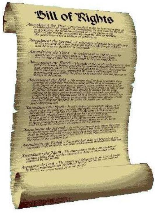 bill of rights scroll On This Day: December 15, 1791