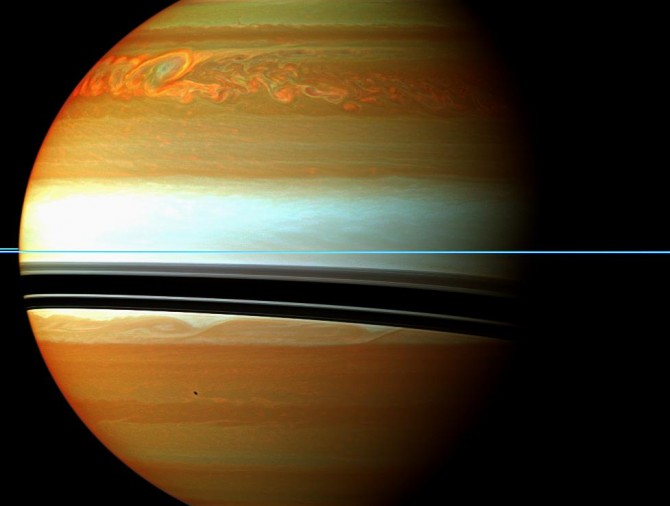 saturnstorm2 cassini 977 670x506 Astronomy Picture of the Day