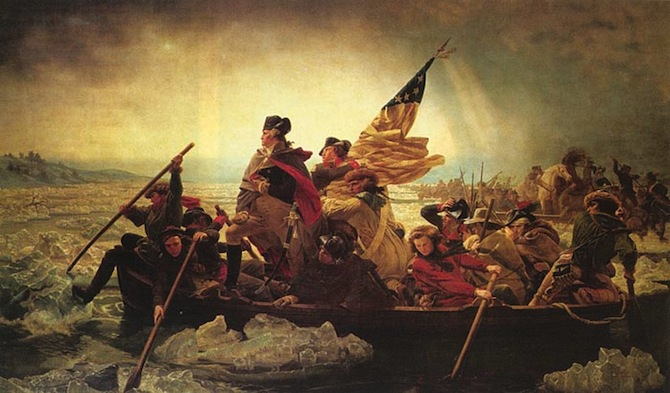 washington leutze On This Day, December 25, 1776