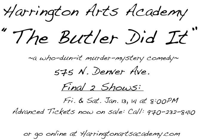 Harrinton Arts 1 The Butler Did It