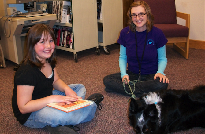 Kelsey Paws to Read at Berthoud Library