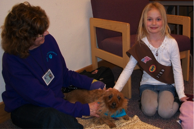 Pat Paws to Read at Berthoud Library