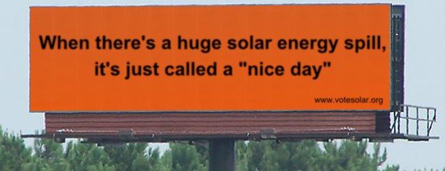 SE spill Solar Energy Spill