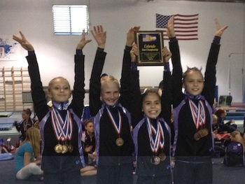 Youth 3rd Place 2012 Level 7 State1 Premier Gymnastics in Level 7 competition
