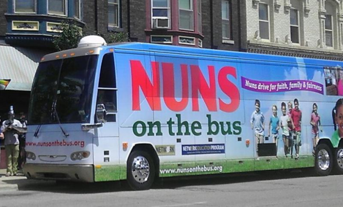 NUNS ON THE BUS BUS 670x405 Republicans hide from Nuns on the Bus
