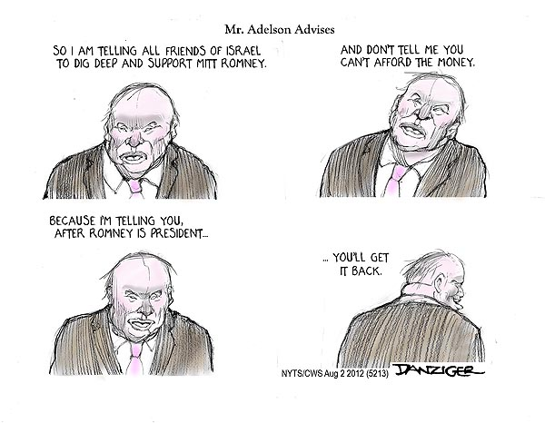 adelson advises1 Romney praises socialists