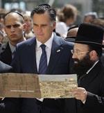 romney western wall Romney praises socialists