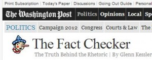 WashingtonPost Fact Checker 300x119 Romney: another big lie
