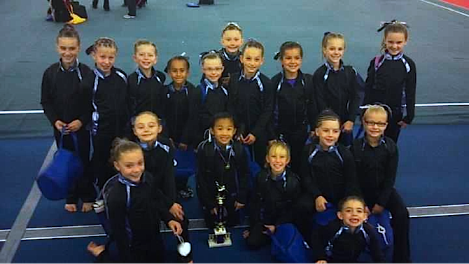 Level 4 team Premier Gymnastics at the Judges Cup