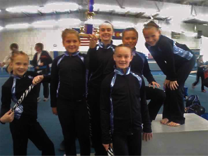Level 5 team Premier Gymnastics at the Judges Cup
