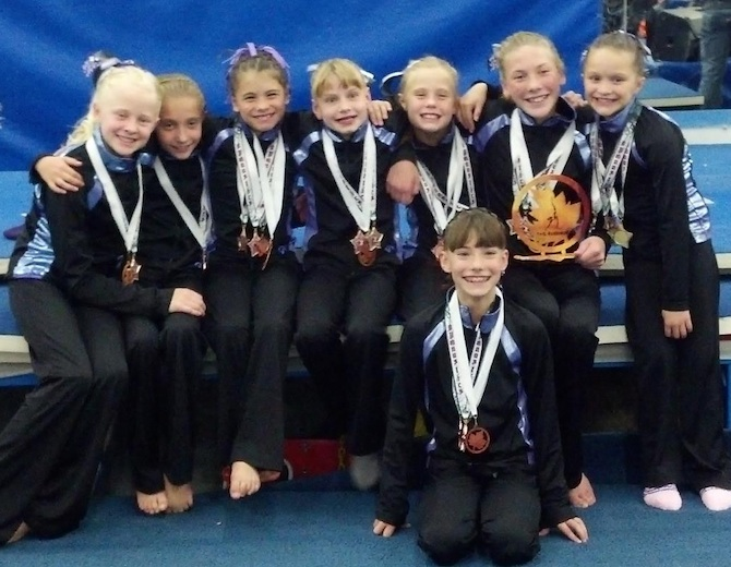 Level 6 3rd Place Finish Aerials 201211 Premier Gymnastics: 2012 Aerials Fall Festival