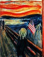 The scream 0 America cowering