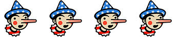 pinocchio 4 Four Pinocchios for Mitt