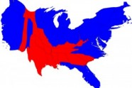 red blue 2008 cartogram2 186x124 Slave States for Romney